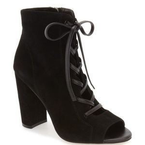 LIKE NEW Sam Edelman Yvie Lace-Up Suede Bootie